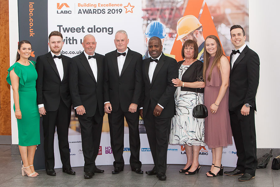 Attendees at the LABC West Midlands Building Excellence Awards 2019