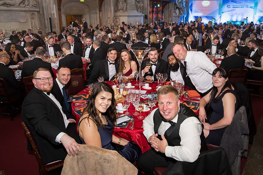 Guests at their tables at the London Building Excellence Awards 2019