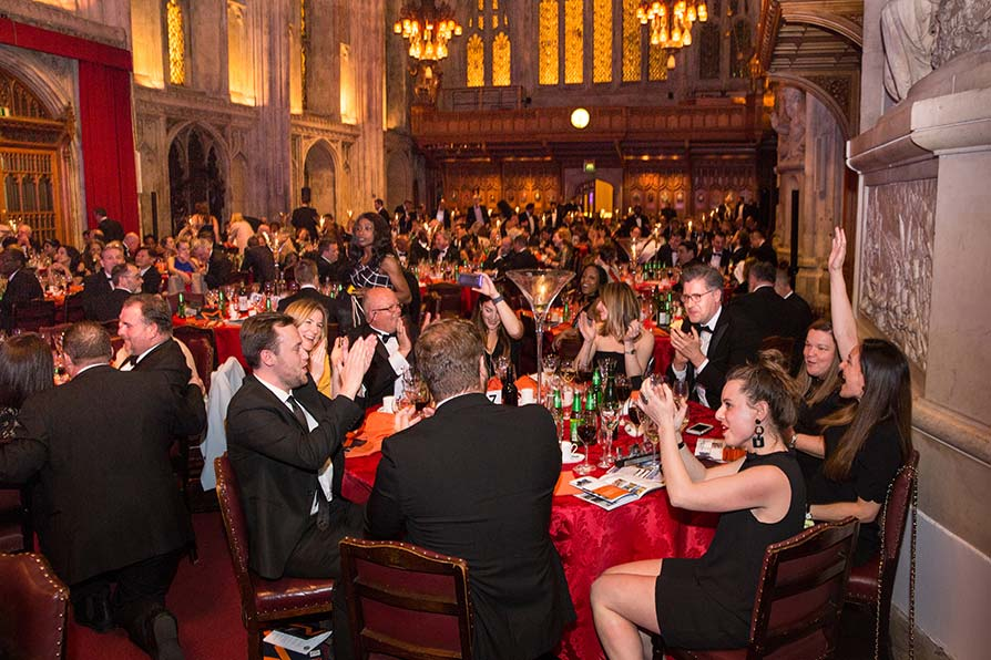 Guests celebrating at the London Building Excellence Awards 2019