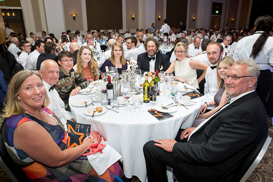 Guests dining at the LABC South West Building Excellence Awards 2019