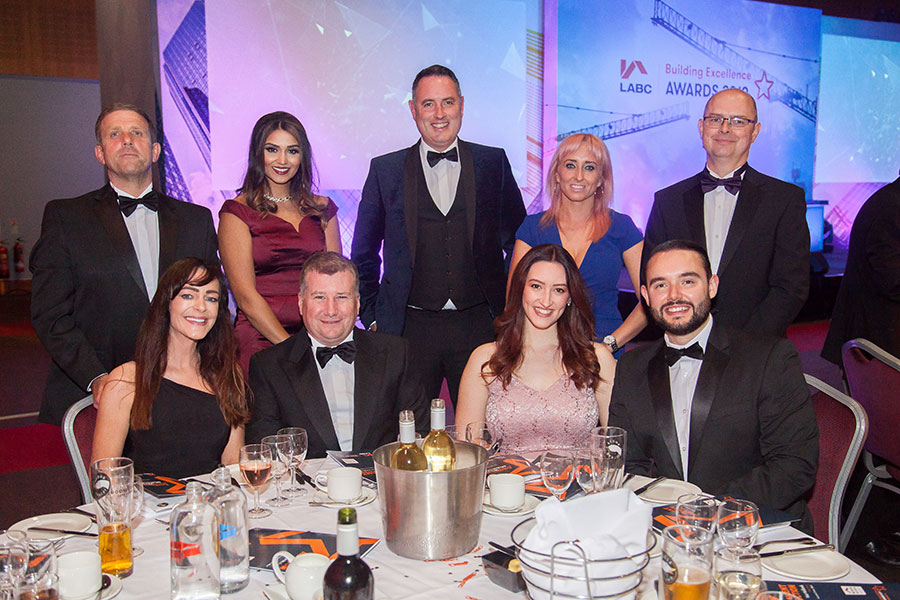 Team picture at the LABC West Midlands Building Excellence Awards 2019