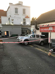 Vehicle reversed into building – Surbiton, Kingston Council
