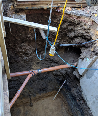 Basement wall collapse