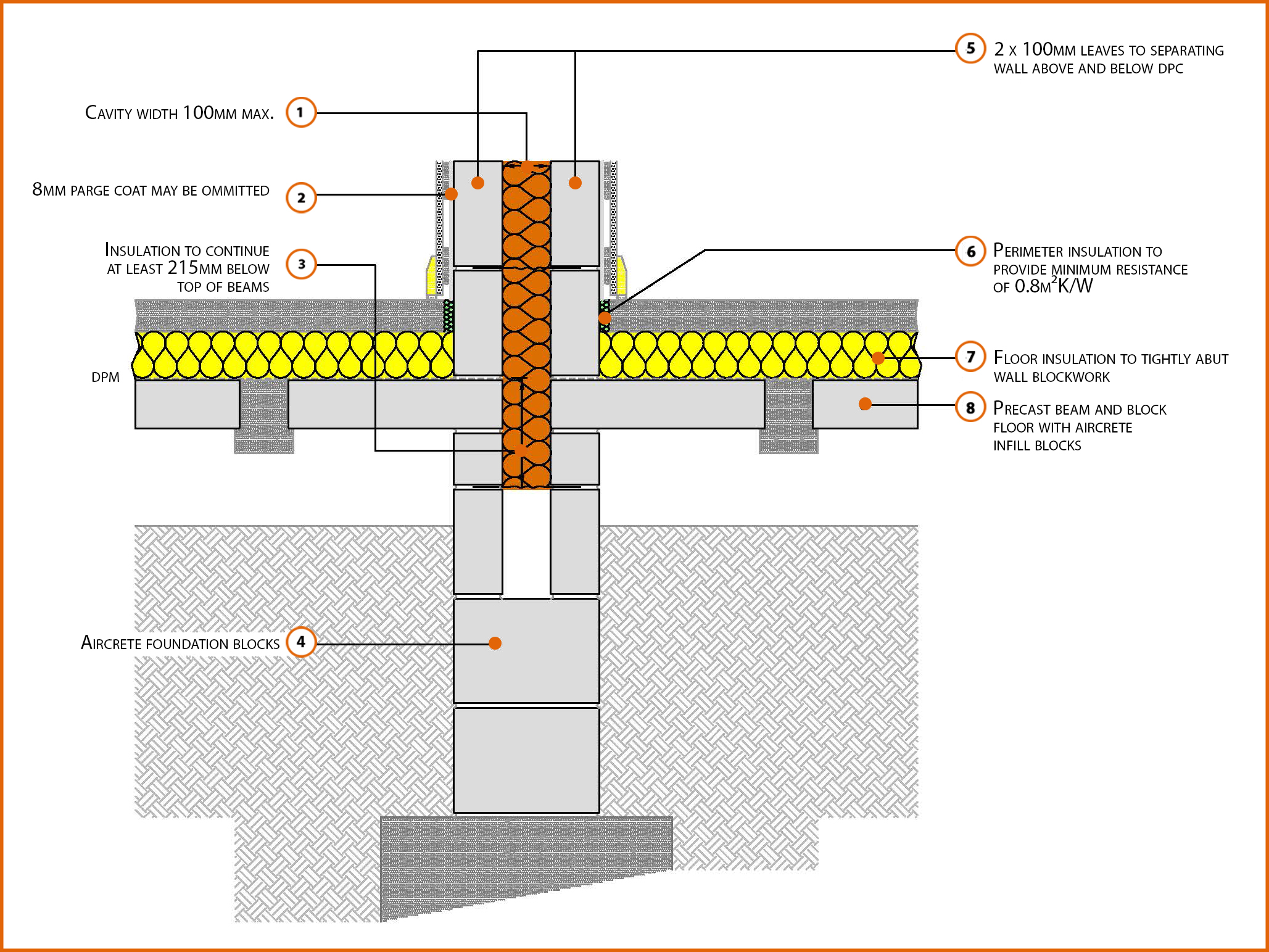 Beam And Block Floor >> P1pcff2 Suspended Beam And Block Floor Insulation Above
