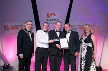 Bristol City Council collecting the award on behalf of Philip Clifford Design