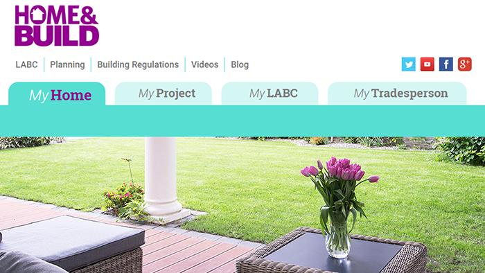 Screenshot of Home&Build website