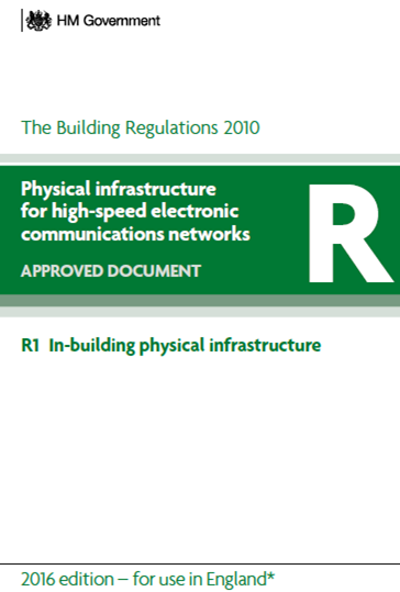Front cover of Part R of the Building Regulations 2010
