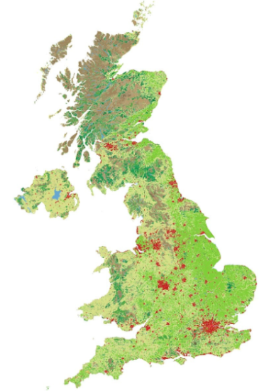 Corine Land Cover map of the UK