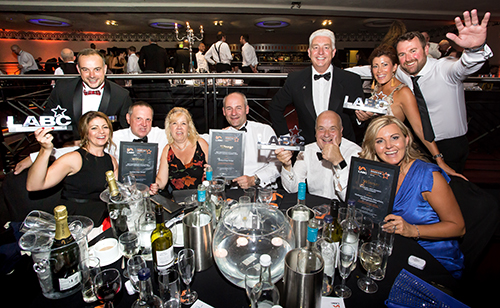 Pic of East Mids winners at the LABC awards