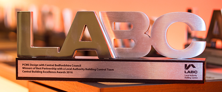 LABC Building Excellence Award trophy