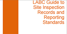 LABC Guide to site inspection records and reporting standards - image