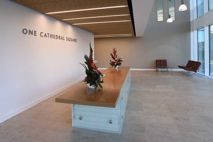 One Cathedral Square interior - LABC award winners