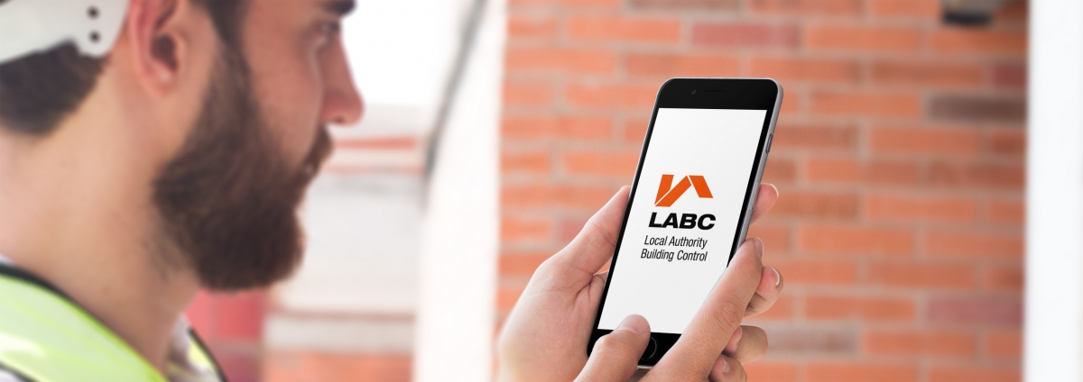 Builder using LABC site inspection app
