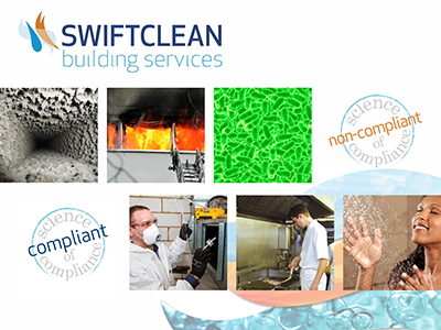 Swiftclean building services - montage of images