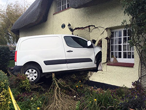 Van through wall - dangerous structure dealt with by Central Bedfordshire Council