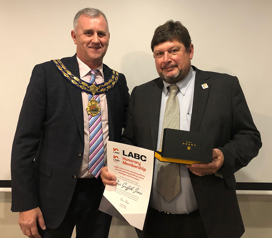 Chris Griffith-Jones with Dave Sharp, LABC AGM