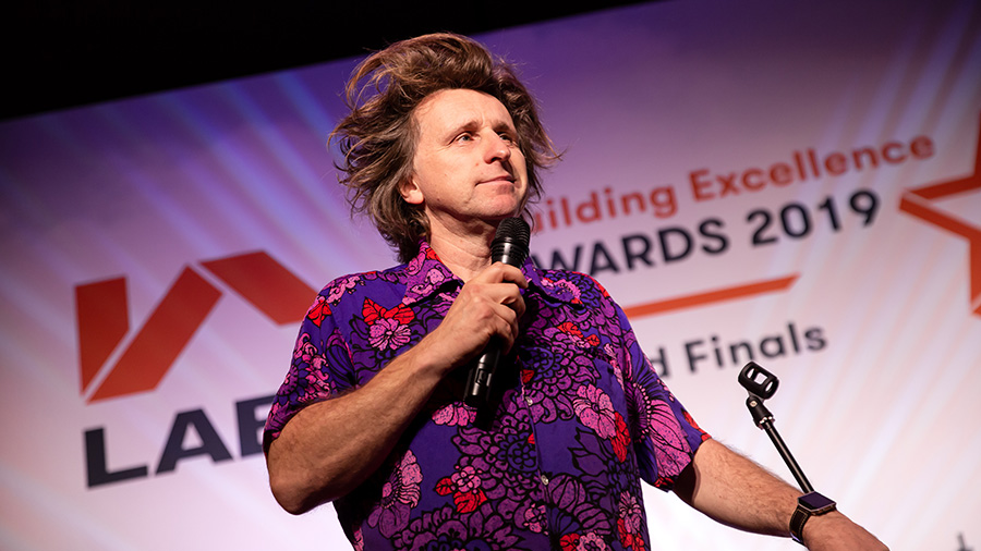 Milton Jones at the LABC Building Excellence Awards 2019