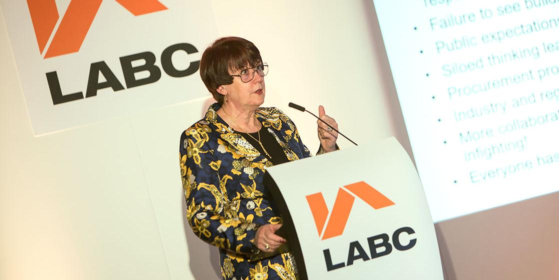 Dame Judith Hackitt speaking at the LABC Conference 2019