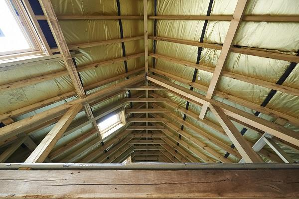 Image of timbers in a roof