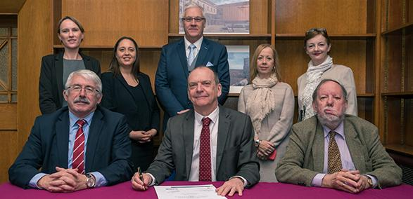 LABC MOU signing with Wolverhampton University - first building control surveying qualifications