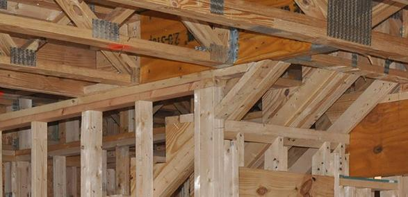 Notches and holes in solid timber joists