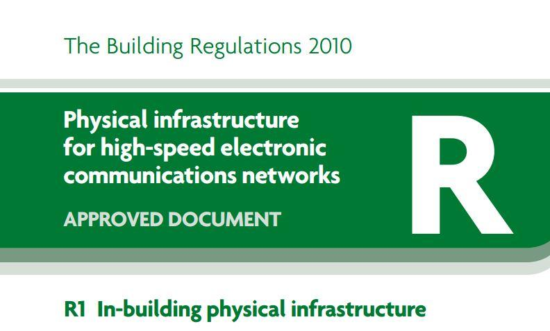 Part R Building Regulations - part of front cover