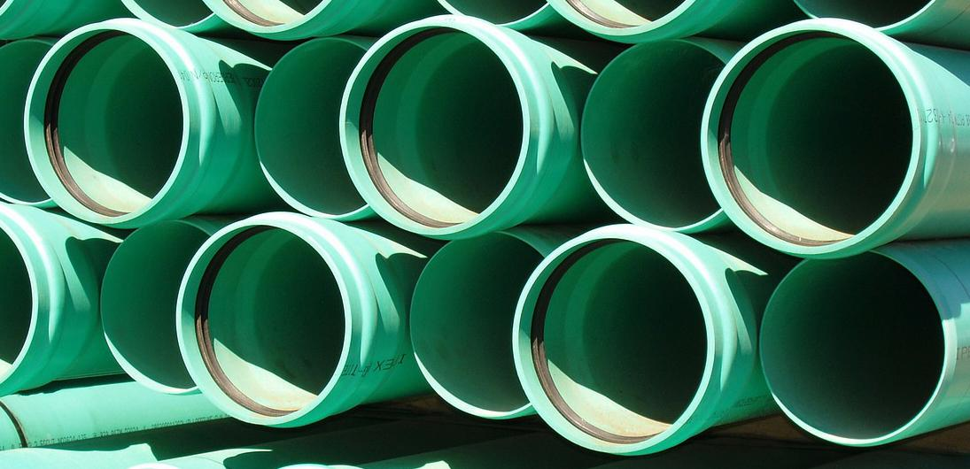 Picture of water drainage pipes