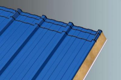 Picture of insulated roof panel for energy efficient buildings