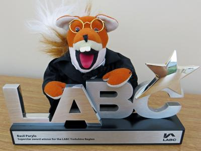Basil Brush receiving his LABC Superstar awards