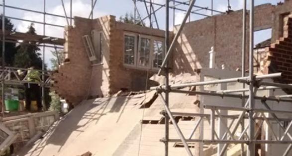 Basement collapse in Kingston, London