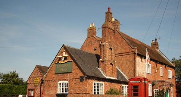 Chimneys on pub