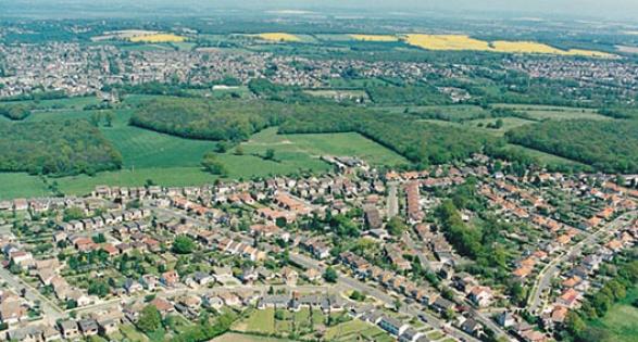 Land use maps - aerial image - Daws Heath Essex