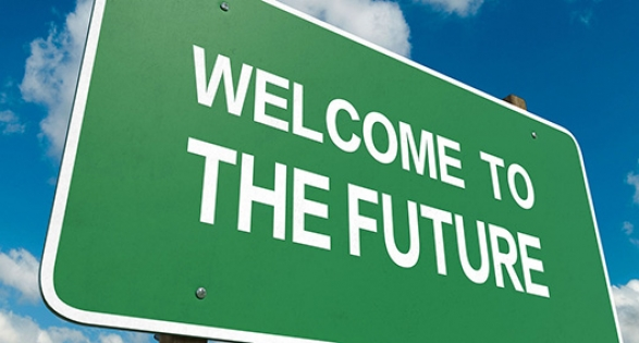 Welcome to the future roadsign