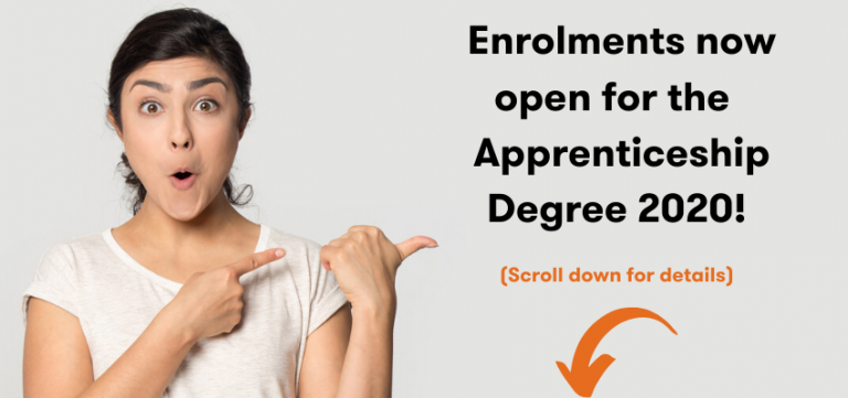 Enrolments open for Apprenticeship Degree 2020